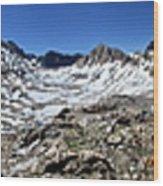 Muir Pass Panorama From High Above - John Muir Trail Wood Print
