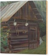 Mulberry Farms Grainery Wood Print