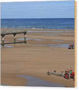 Mulberry Harbour, Omaha Beach, Normandy Wood Print