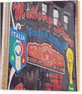 Mulberry Street Cigar Company Wood Print