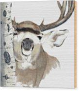 Mulie Buck And Aspen Wood Print