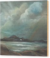 Mull From Iona Wood Print