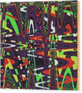 Multi Color Abstract Wood Print