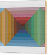Multi-color Graphic Horizontal Maze Wood Print