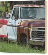 Multi-colored Ford Wood Print
