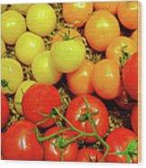 Multi Colored Tomatoes Wood Print