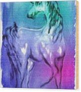 Multi Coloured Unicorn Wood Print