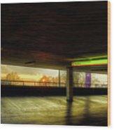Multi-storey Sunset Wood Print