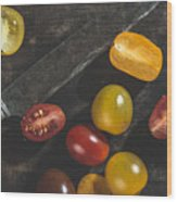 Multicolored Cherry Tomatoes Wood Print