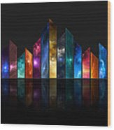 Multicolored Crystals - 479 Wood Print