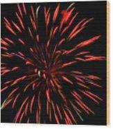 Multicolored Fireworks 2 Wood Print