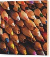Multicolored Pencils Wood Print