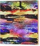 Multiple Underwater Sunsets Wood Print