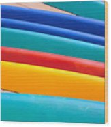 Multitude Of Surfboards Wood Print