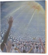 Multitude Of Worshippers Wood Print