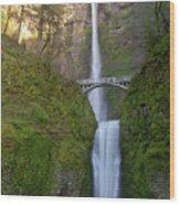 Multnomah Falls In Oregon State. Wood Print