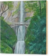 Multonomah Falls Wood Print