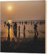 Mumbai Sunset Wood Print