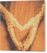 Mummies Love Halloween Wood Print