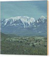 Mummy Mountain Wood Print
