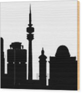 Munchen Skyline Wood Print