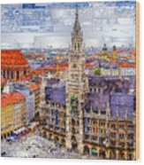 Munich Cityscape Wood Print