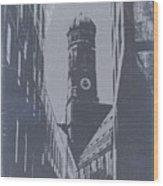 Munich Frauenkirche Wood Print by Naxart Studio