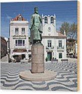 Municipal Square In Cascais Portugal Wood Print