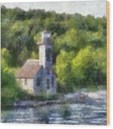 Munising Grand Island Lighthouse Upper Peninsula Michigan Pa 01 Wood Print