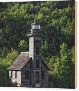 Munising Grand Island Lighthouse Upper Peninsula Michigan Vertical 02 Wood Print