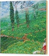 Munnar Tea Gardens Wood Print