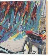 Mural Del Mar Race Track Wood Print