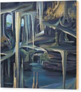 Mural Ice Monks In November Wood Print