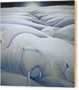 Mural  Winters Embracing Crevice Wood Print