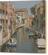 Murano Canal 4329 Wood Print