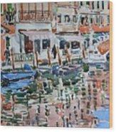 Murano Canal Wood Print