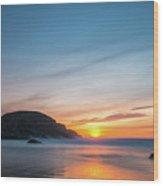 Murder Hole Beach Wood Print