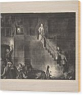 Murder Of Edith Cavell, First State By George Bellows 1882-1925 Wood Print