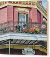Muriels On The Square _ Nola Wood Print