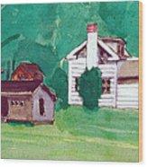Murray Hill Watercolor Wood Print