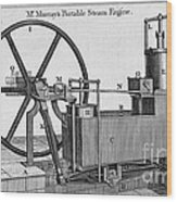 Murrays Portable Steam Engine, 19th Wood Print