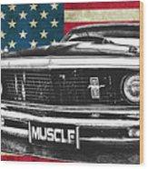 Muscle Us Mustang Wood Print