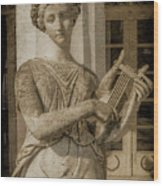 Achilleion, Corfu, Greece - The Muse Terpsichore Wood Print