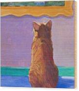 Museum Cat 2 Wood Print