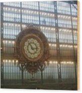 Museum D'orsay Clock Wood Print