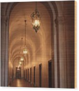 Museum Hallway Wood Print