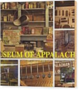 Museum Of Appalachia Block Collage Wood Print