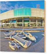 Museum Of Contemporary Art In Zagreb Wood Print