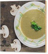 Mushroom Soup Wood Print