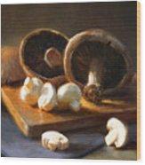 Mushrooms Wood Print by Robert Papp